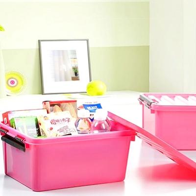 美樂麗 22L 物品收納卡扣整理箱 - 桃紅*4入