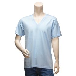 Y-3 山本耀司經典LOGO純棉短袖V領T恤(水藍)