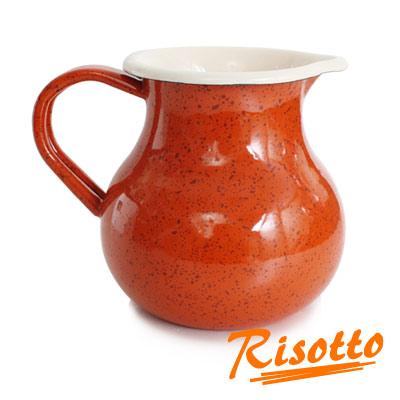 RISOTTO-復古典雅琺瑯牛奶壺-陽光橙橘