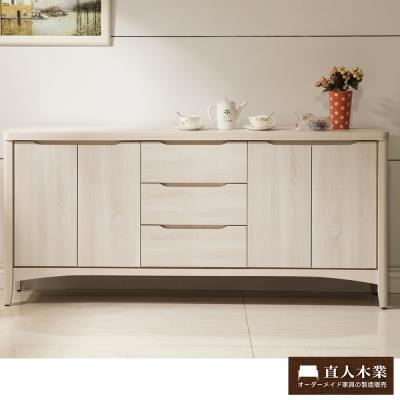 日本直人木業-COCO白橡176CM廚櫃(176x40x80cm)