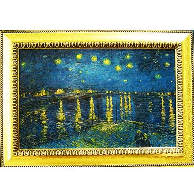 開運陶源《隆河上的星夜》 Vincent (60x43cm )