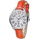 ALBA 美漾智慧時尚知性女錶-銀白/紅色皮帶(AH7J95X1)/32mm