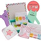 CRAFTHOLIC 宇宙人 甜蜜幸福毛巾5件套組(台灣製)