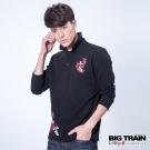 BIG TRAIN 昇鯉牡丹印花POLO衫-男-黑色