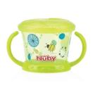 Nuby 防漏零食盒(幾何)-綠(12M+)