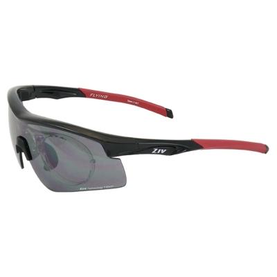 ZIV運動太陽眼鏡 可拆換式光學內視鏡系列/黑-紅#B104001-R