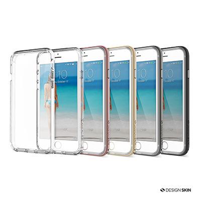 DesignSkin iPhone 7 雙層防摔邊框透明手機殼