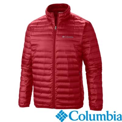 Columbia-防水羽絨外套-男-磚紅色-UWO55290FB