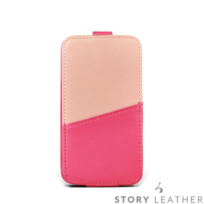 iPhone 5/5S/SE Style-D6 PDA式下蓋拼皮夾層 客製化皮套