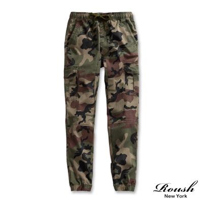 ROUSH-美式高磅數多口袋水洗縮口長褲