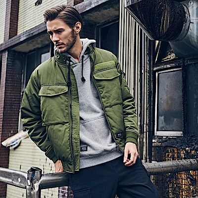 CACO-大口袋鋪棉MA-1外套(兩色)-男【MNA120】