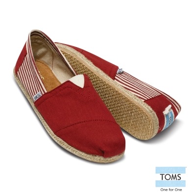 TOMS 經典學院風懶人鞋-女款(紅)