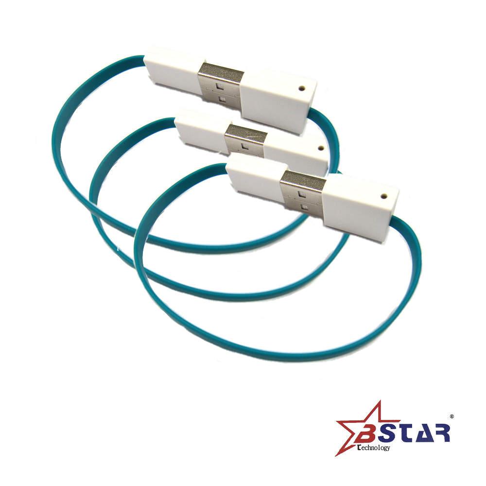 BSTAR Micro USB手機專用傳輸線(扁)15CM-三入