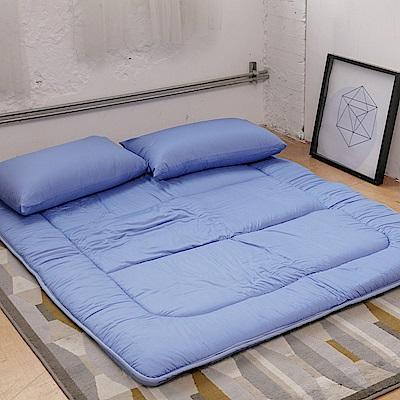 LAMINA 超值組純棉日式床墊+床墊布套+枕套(雙人)