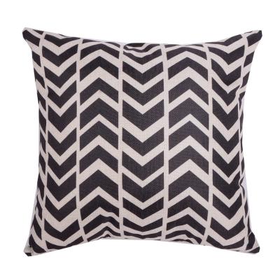 幾何原創 棉麻舒適方型抱枕.靠枕 (粗黑W)