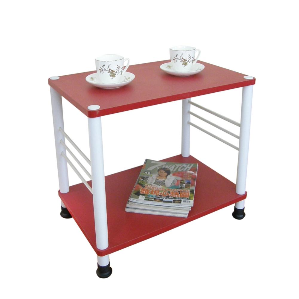 【MIT】寬40喜氣紅色邊桌(可選固定腳/活動腳)