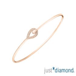 Just Diamond 18K玫瑰金鑽石手環-Venus kiss 維納斯之吻