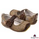 Rileyroos 美國手工童鞋學步鞋-Mary Jean 斜紋棕色