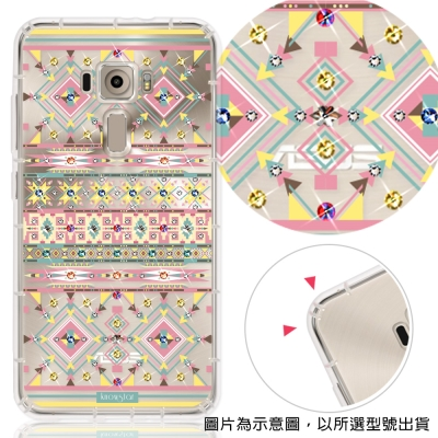 KnowStar  ZenFone3 Deluxe 彩鑽防摔手機殼-璇