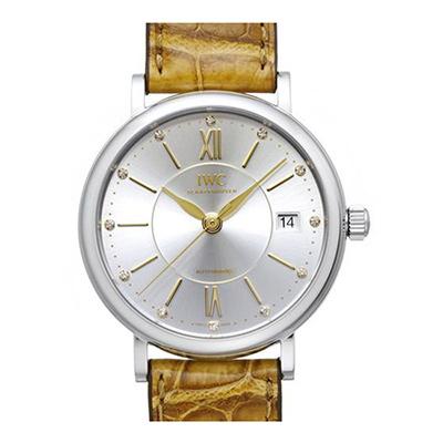 IWC 萬國錶 Portofino 柏濤菲諾銀面經典皮帶錶(IW458101)-37mm