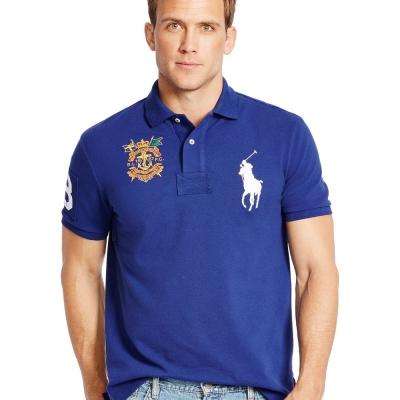 Ralph Lauren 短袖 POLO 素面 藍色 329