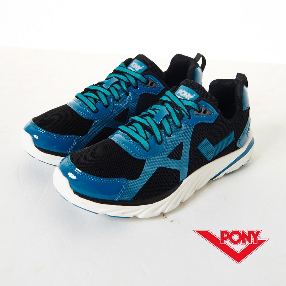 PONY-START-B 動感有型 輕。跑鞋-綠/黑(女)