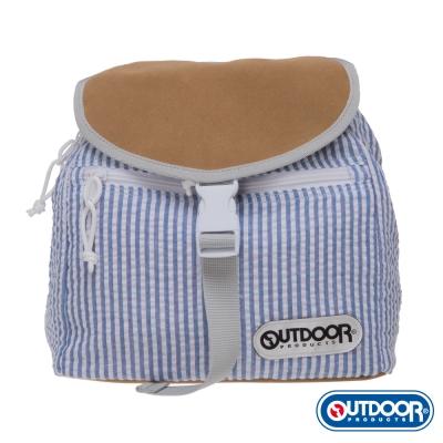 OUTDOOR-泡泡糖系列-全棉後背包-條紋藍 OD161104BL