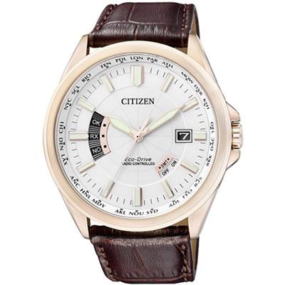 CITIZEN 極簡紳士風光動能電波錶(CB0018-01A)-43mm