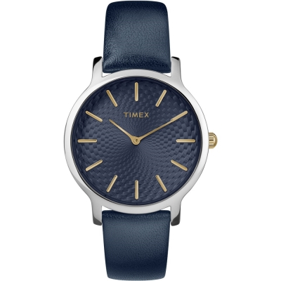 TIMEX 天美時 風格系列 時尚手錶-海軍藍/34mm