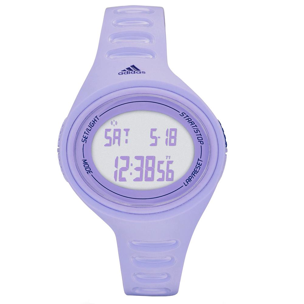 adidas橢圓百搭數位電子腕錶-薰衣草紫x小37mm