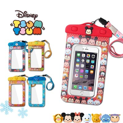 迪士尼可愛玩偶造型 TSUM TSUM 5吋通用繽紛手機防水袋