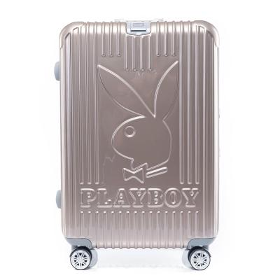 PLAYBOY-Bright-系列-26吋旅行箱-香檳金