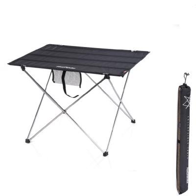 PUSH!戶外休閒用品便攜式鋁合金戶外折疊桌野餐桌(加大版)P57