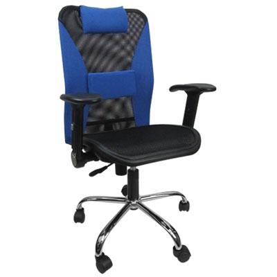 邏爵家具 大L鋼管全網升降手電腦椅/辦公椅(5色)