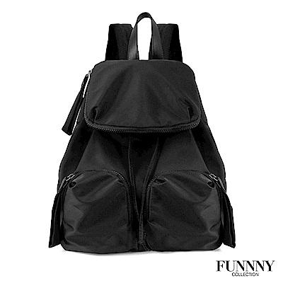 FUNNNY BLACK系列 輕量尼龍後背包 Ava