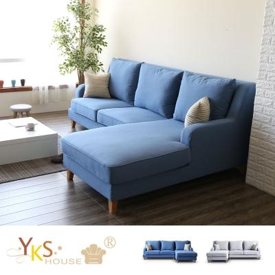 YKSHOUSE 海格L型布沙發-獨立筒版 多色.左右型可選