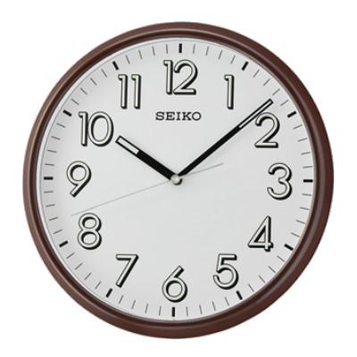 SEIKO 日本精工 夜光掛鐘 時鐘(QXA694B)白x咖啡框/28cm