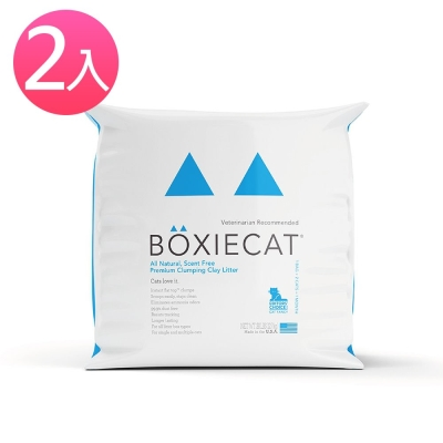 BOXIECAT博識貓 黏土凝結貓沙 28磅 2入