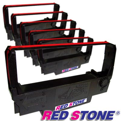 RED STONE for EPSON ERC30/ERC34/ERC38黑紅色帶(6入)