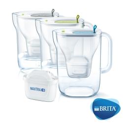 [限時下殺78折]BRITA Style3.6L濾水壺+MAXTRA Plus濾芯x2(共3芯)
