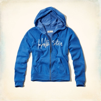 Hollister HCO 長袖 女外套 藍色 0063