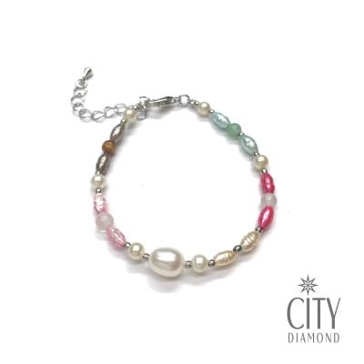 City Diamond引雅 【手作設計系列 】天然綜合寶石珍珠手鍊