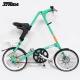 STRiDA 速立達 18吋SX 折疊碟剎單車(三角形單車)截色橘-薄荷綠 product thumbnail 2