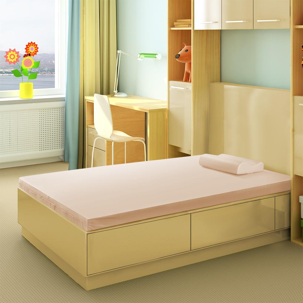 幸福角落 防蹣抗菌5cm竹炭釋壓記憶床墊-單人加大3.5尺
