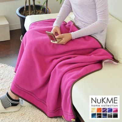 棉花田【NuKME】時尚創意多功能隨意毯-蜜桃粉