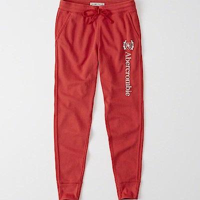 AF a&f Abercrombie & Fitch 女生 長褲 紅色 0491