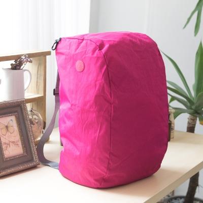 COUNT DUCK 美系悠活輕量雙肩後背包-CD-027-桃紅色