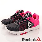 Reebok 頂級童鞋 輕量機能運動款 ZE766桃黑(中小童段)