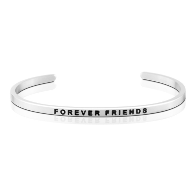 MANTRABAND FOREVER FRIENDS 一輩子的好朋友 銀色手環