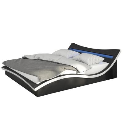 床架 雙人加大 6 尺 沃克黑皮雙人床 AT HOME(不含床墊)